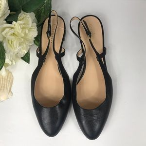 Cole Haan Round Toe Slingback Flats, 9.5